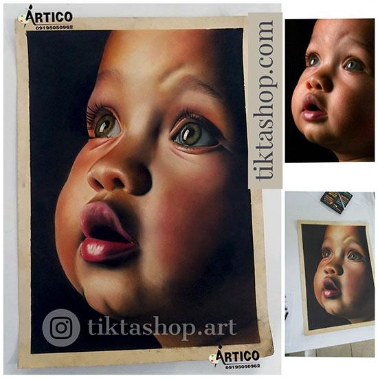 سفارش نقاشی چهره با پاستل