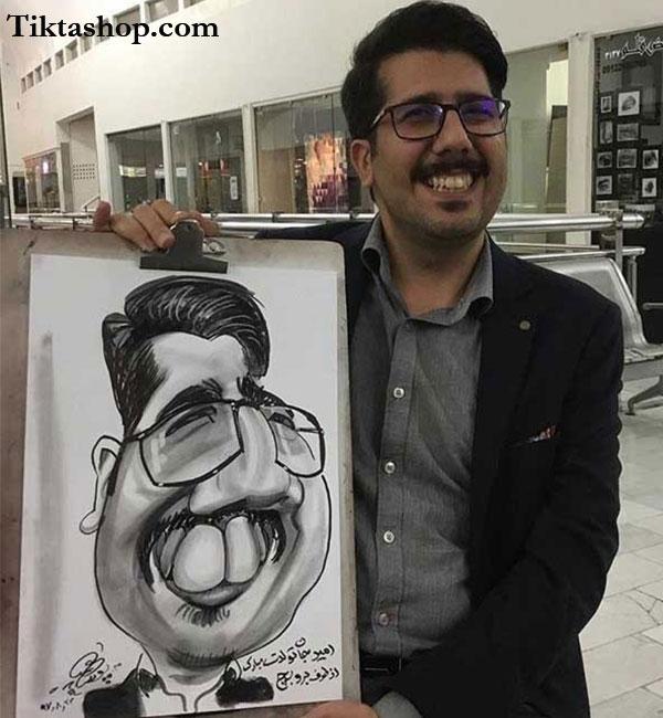 سفارش کاریکاتور چهره - سیاه و سفید
