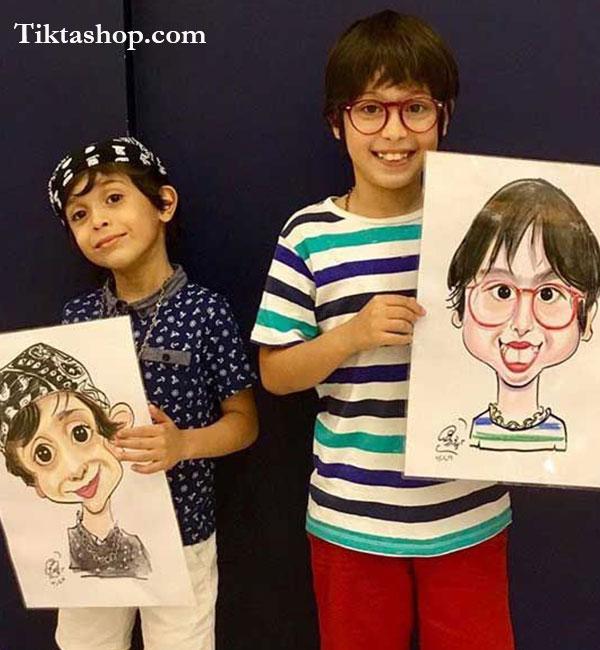کاریکاتور کودک - کاریکاتور چهره
